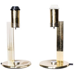 Swedish Brass Table Lamps from 1970s-1980s