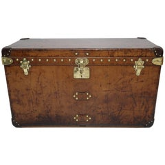 Louis Vuitton Leather Trunk with Camphor Interior