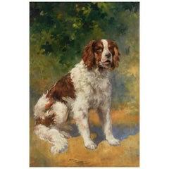 French Painting of a Spaniel