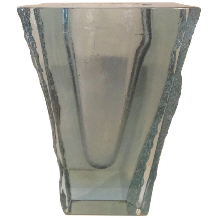 Amazing Architectural Glass Studio Vase By John Lewis At 1stdibs