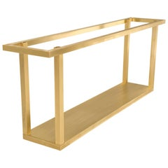 Custom Brass Console Table