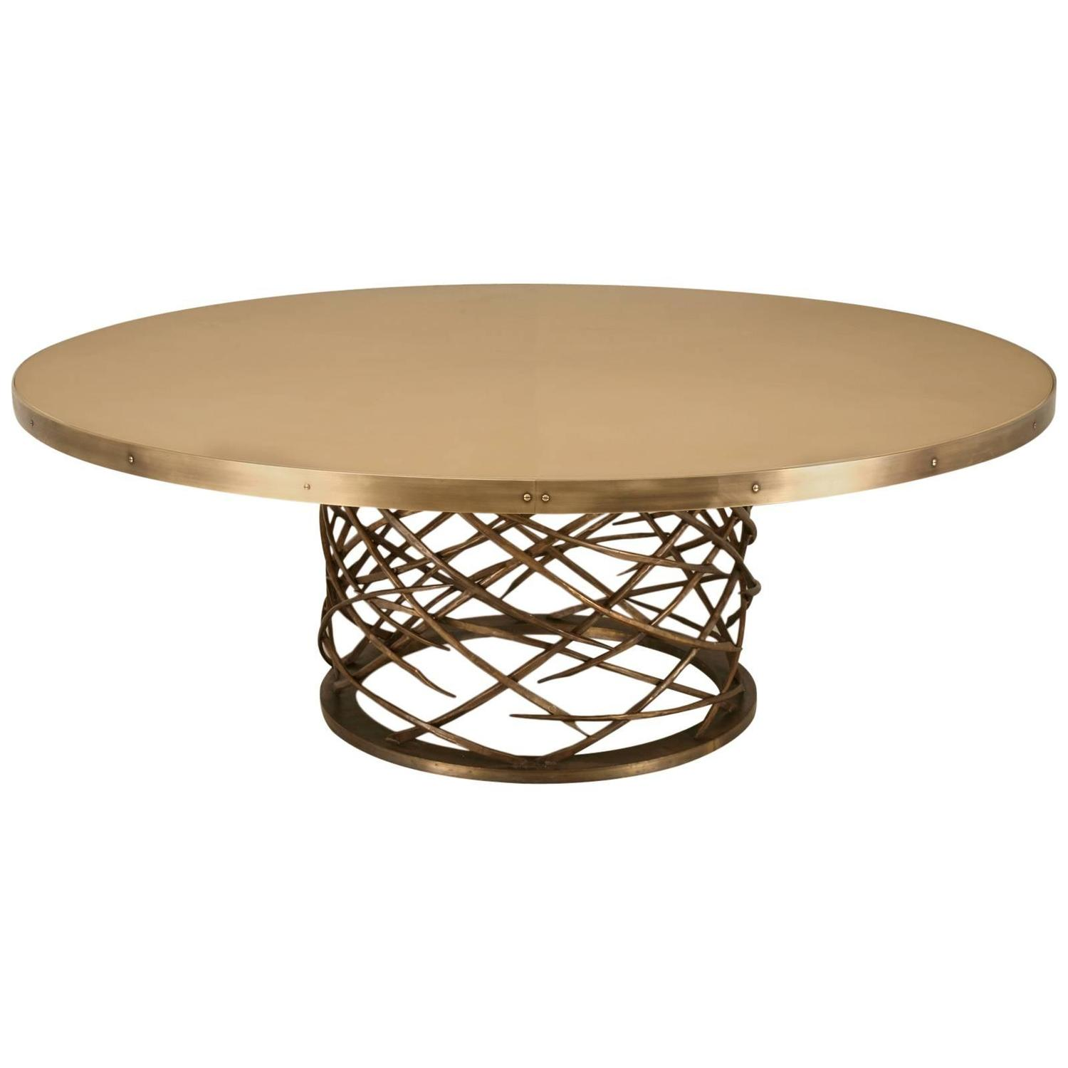 Custom Made Woven Solid Bronze Table Base For Sale at 1stdibs : 1069640z from www.1stdibs.com size 1500 x 1500 jpeg 65kB