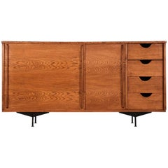 Sideboard in Style of Jean Prouvé Design, 1960 Oak