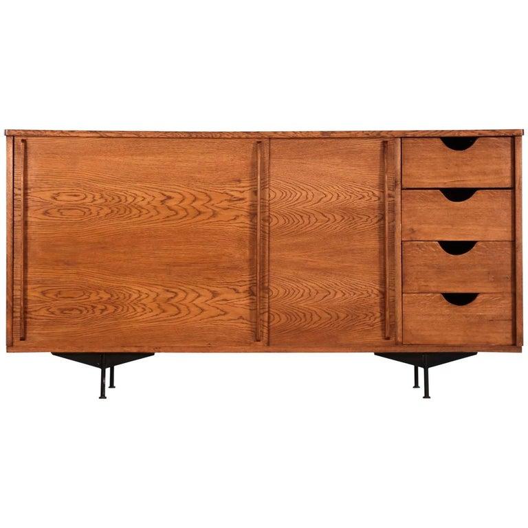 Sideboard in Style of Jean Prouvé Design, 1960 Oak