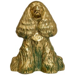 1940s English Spaniel Dog Doorstop by Virginia Metalcrafters