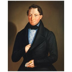 Biedermeier Portrait of a Gentleman, circa 1820
