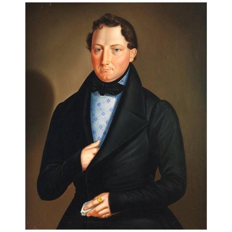 Biedermeier Portrait of a Gentleman, circa 1820