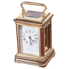 Miniature Antique French Brass Carriage Clock