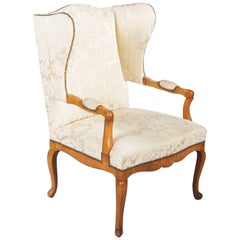 Louis XV Style Early 20th Century Wingback Chair