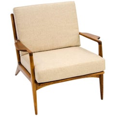 Danish Lounge Chair, Ib Kofod Larsen for Selig