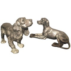 Vintage Bronze Gucci Signed Dogs