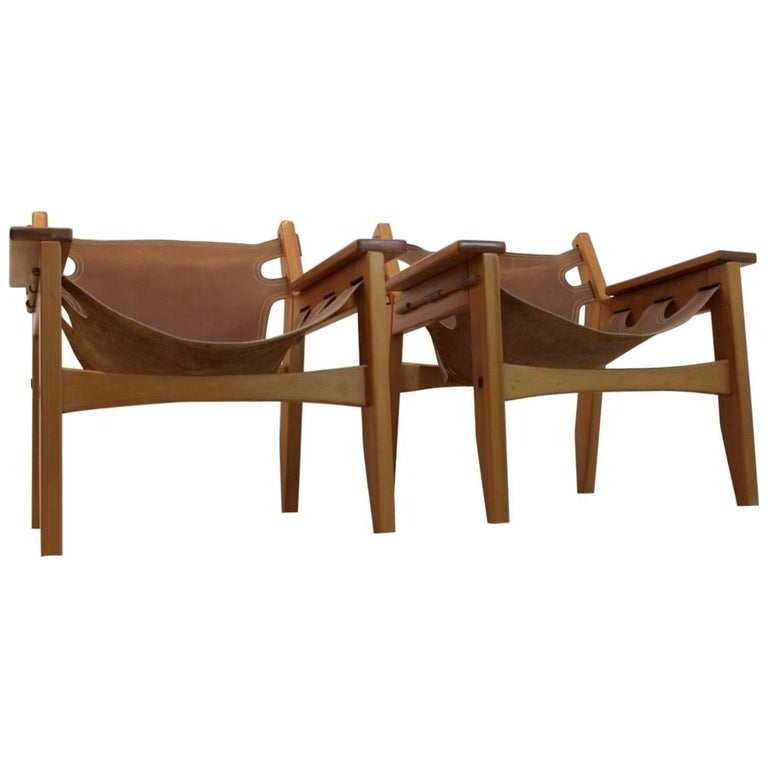 Amazing Sergio Rodrigues 'Kilin' Lounge Chairs for Oca Industries, Brazil