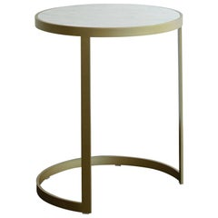 Modern Ola Sidetable White Marble Brass Steel