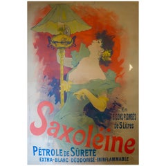 French Color Lithograph Poster for Saxoléïne by Jules Chéret, 1892
