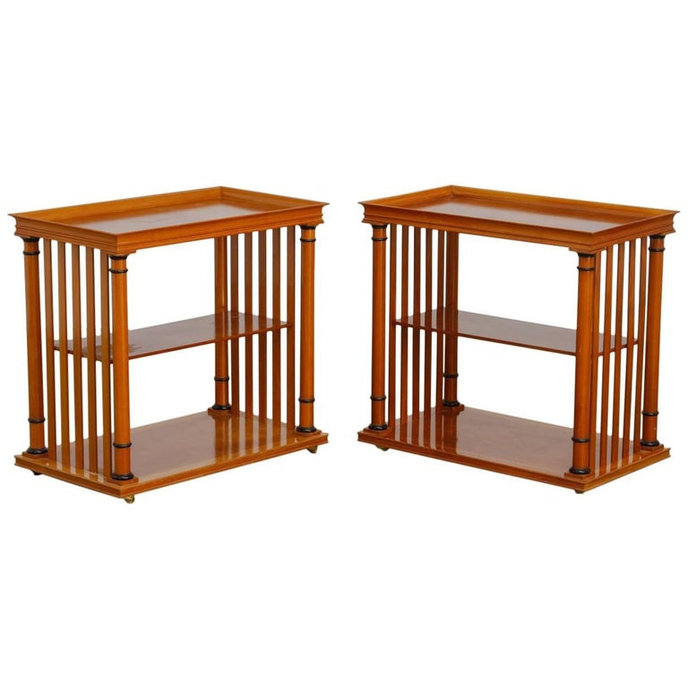 Pair of Swedish Biedermeier Style Tiered Nightstands