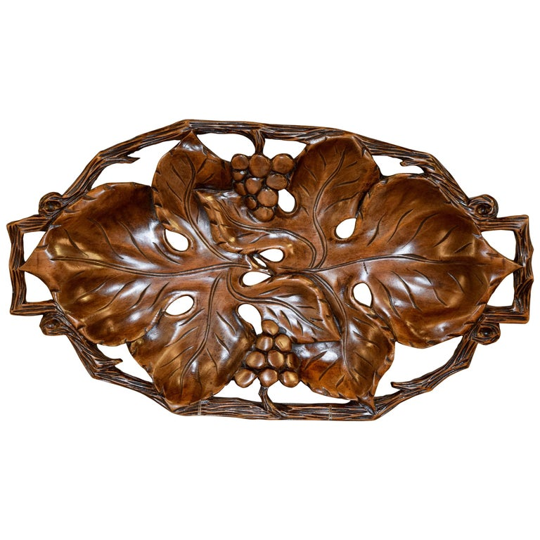 19th Century Black Forest Carved Tray