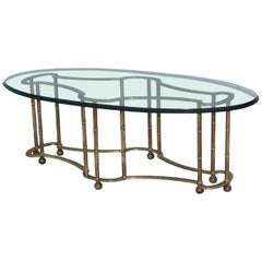 Mastercraft Racetrack Brass Coffee Table