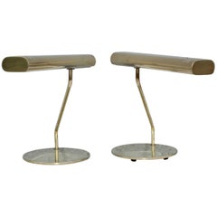 Mid-Century Modern Brass Swivel Table Lamps