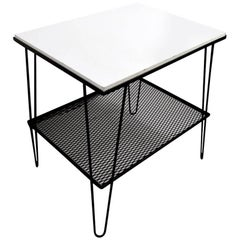 Mid Century  Iron and Masonite Table
