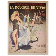 "French Poster ""La Douceur De Vivre"" -La Dolce VITA, by Federico Fellini, 1960"