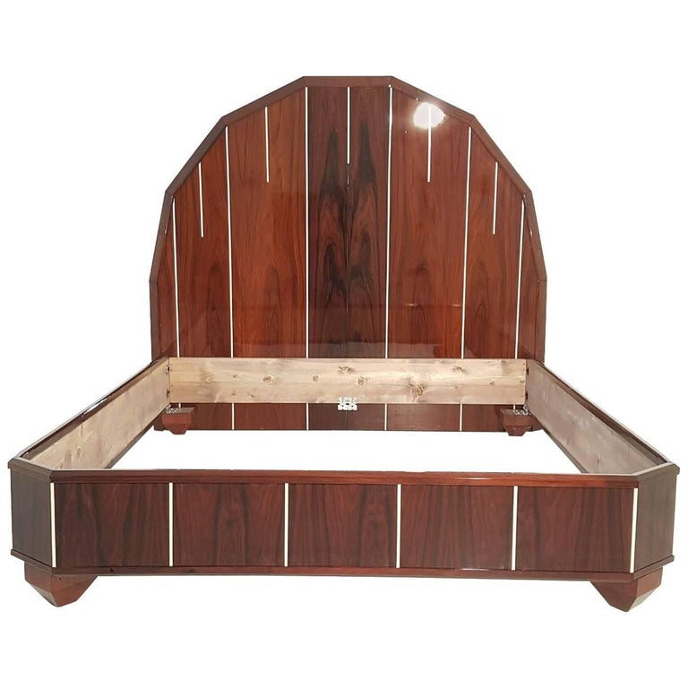 Palisander Art Deco Design Bed
