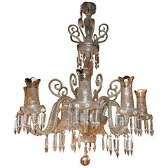 Chandelier Baccarat Eight Arms with Tealight Holders and Four with Tulips