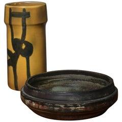 Set of Two Italian 1970s Ceramics