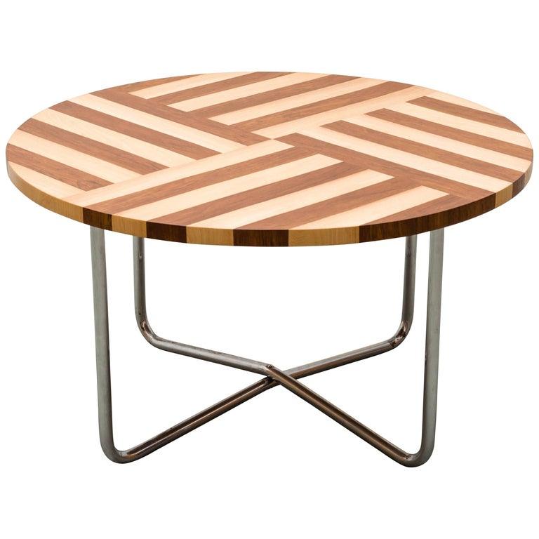 Art Deco Tubular Steel Coffee Table, 1930s