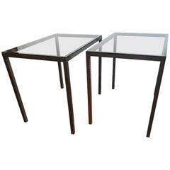 Pair of French Side Tables, 1970s