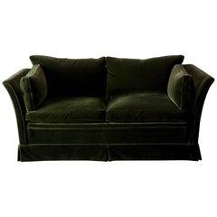 Sofa Swedish Mid-20th Century Green Velvet, Sweden