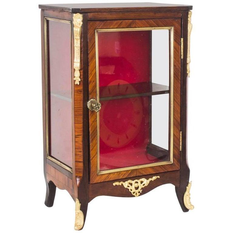 Miniature Kingwood Bijouterie Table Top Cabinet with Ormolu Mounts 19th Century