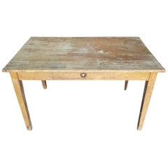 Late 19th Century French Oak Kitchen Farm Table