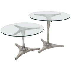 Midcentury Modern Set of Aluminum Nesting Tables