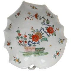 Leaf-Shaped Dish, Kakiemon Decoration, Bow Porcelain Factory, circa 1752