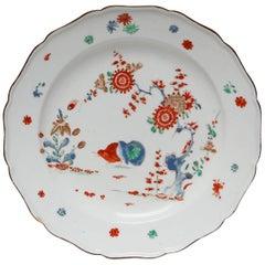 Dessert Plate, Kakiemon Decoration, Bow Porcelain Factory, circa 1752