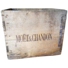 Early 20th Century French Double Sided Moët & Chandon Box