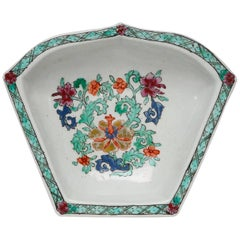 Hors D'Oeuvre Dish, Chinese Decoration, Bow Porcelain Factory, circa 1750