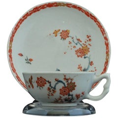 Cup and Saucer, Kakiemon Decoration, Bow Porcelain Factory, circa 1753