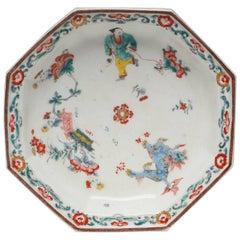 Soup Plate, Arita Decoration, Boy with Kite, Bow Porcelain Factory, circa 1755