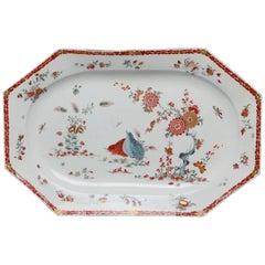 Large Meat Dish, Kakiemon Decoration, Bow Porcelain Factory, circa 1760