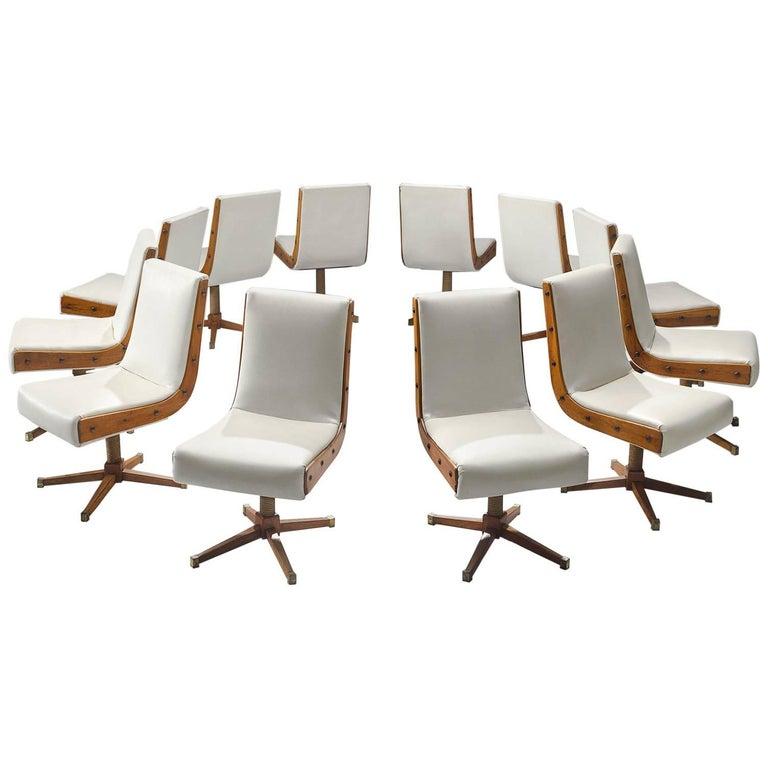 Set of 12 Custom-Made Italian Dining Chairs
