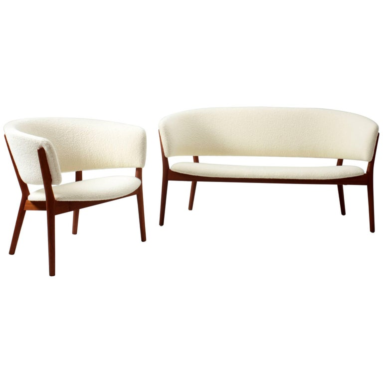 Nanna Ditzel Set of a Lounge Chair and a Sofa, 1950s