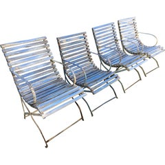 Set of Four Armchairs from the Promenade des Anglais, Nice