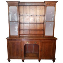 19th Century English Pinewood Kitchen Cabinet