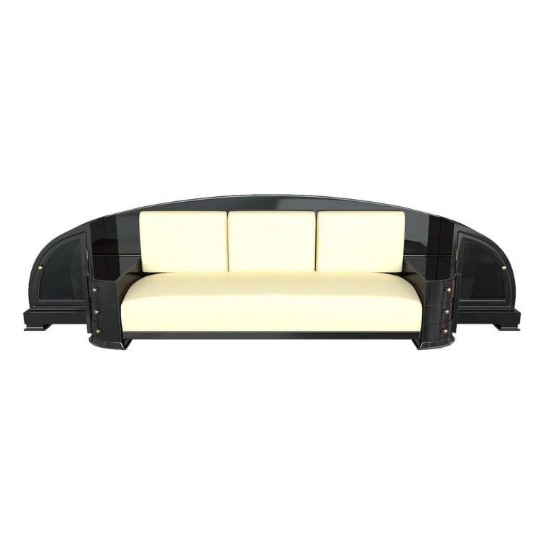Black Art Deco Sofa