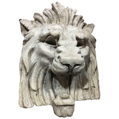 Large Architectural Lion Face in Terracotta, circa 1900