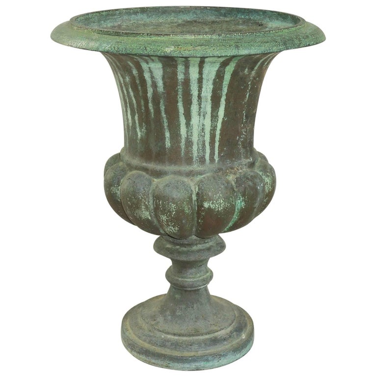 Cast Bronze Urn, French, 19th Century