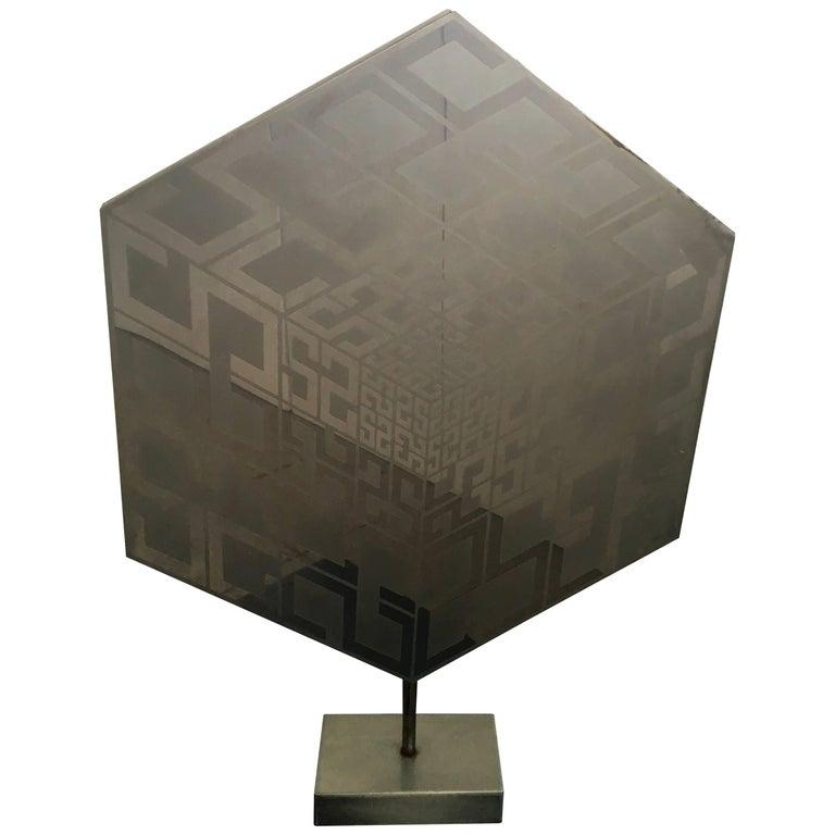 Mid-Century Modern Abstract Estuardo Maldonado Aluminium 1974 Sculpture