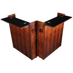 Rosewood Folding Bar by Erik Buck