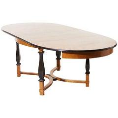 Carl Malmsten for Nordiska Kompaniet Oval Birch Table